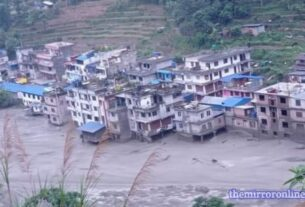 Extreme levels of flood danger were announced in Melamchi