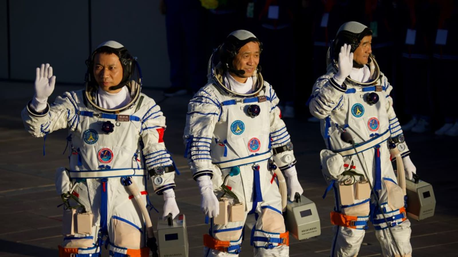 After spending 90 days in space, three Chinese astronauts returned to Earth